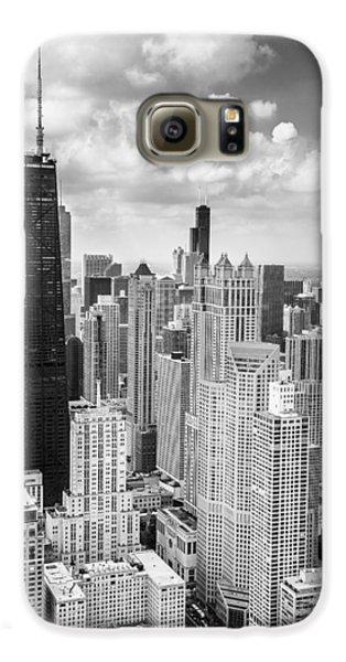 John Hancock Building In The Gold Coast Black And White Galaxy S6 Case by Adam Romanowicz