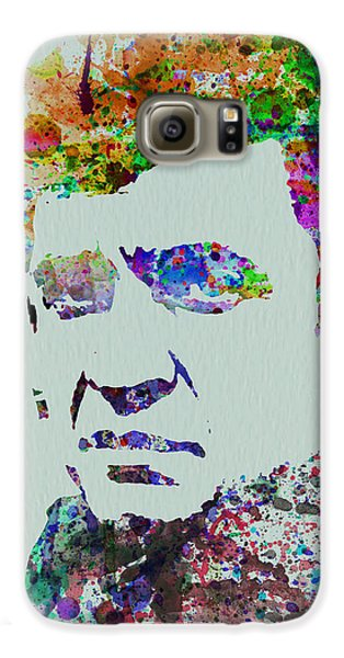 Johnny Cash Watercolor 2 Galaxy S6 Case by Naxart Studio