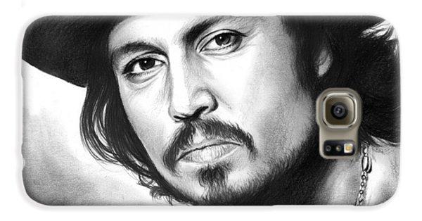 Johnny Depp Galaxy S6 Case by Greg Joens