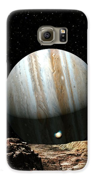 Jupiter Seen From Europa Samsung Galaxy Case by Don Dixon