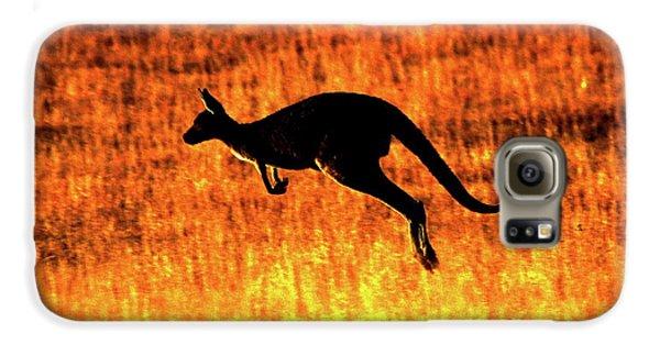 Kangaroo Sunset Galaxy S6 Case by Bruce J Robinson