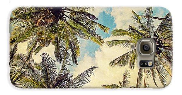 Kauai Island Palms - Blue Hawaii Photography Galaxy S6 Case by Melanie Alexandra Price
