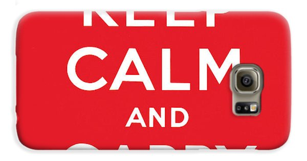 Keep Calm And Carry On Galaxy S6 Case by English School