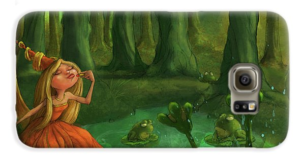 Kissing Frogs Galaxy S6 Case by Andy Catling