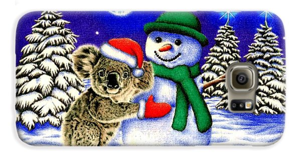 Koala With Snowman Galaxy S6 Case by Remrov