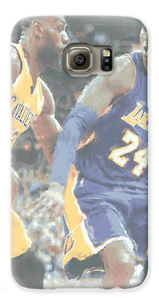 Kobe Bryant Lebron James 2 Galaxy S6 Case by Joe Hamilton