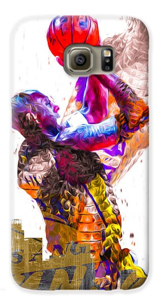 Kobe Bryant Los Angeles Lakers Digital Painting Snake 1 Galaxy S6 Case by David Haskett
