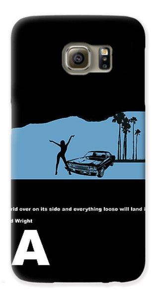 La Night Poster Galaxy S6 Case by Naxart Studio