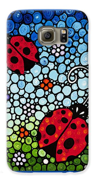 Ladybug Art - Joyous Ladies 2 - Sharon Cummings Galaxy S6 Case by Sharon Cummings