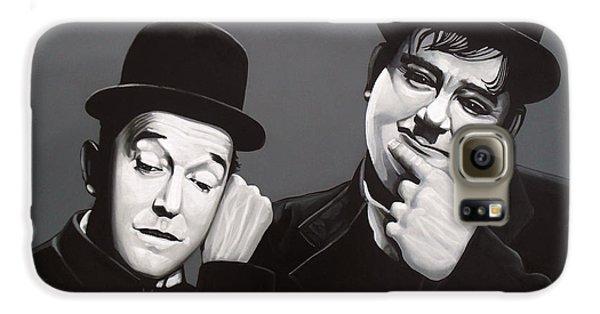 Laurel And Hardy Galaxy S6 Case by Paul Meijering
