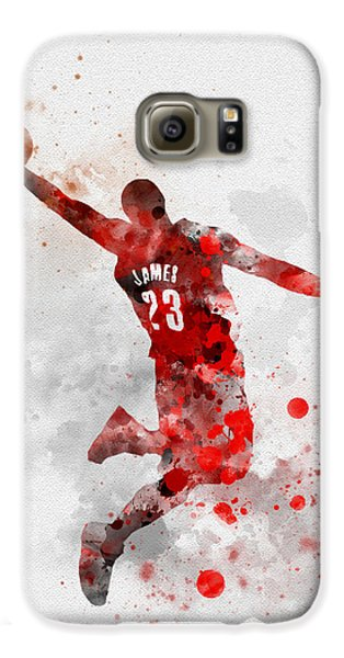 Lebron James Galaxy S6 Case by Rebecca Jenkins