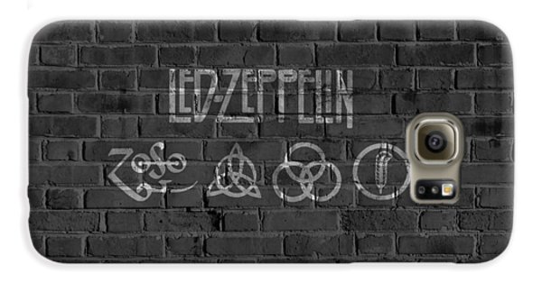 Led Zeppelin Brick Wall Galaxy S6 Case by Dan Sproul