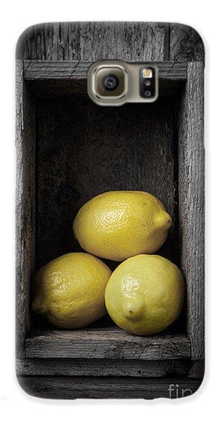 Lemons Still Life Galaxy S6 Case by Edward Fielding