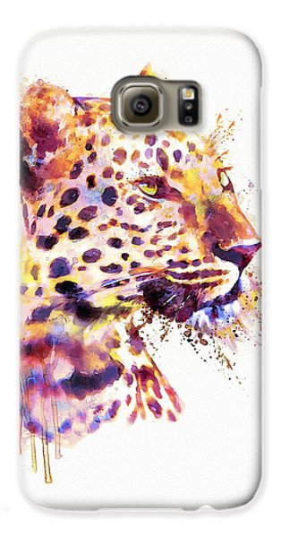 Leopard Head Galaxy S6 Case by Marian Voicu