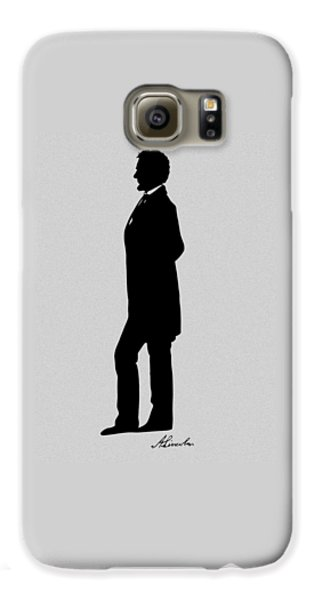 Lincoln Silhouette And Signature Galaxy S6 Case by War Is Hell Store