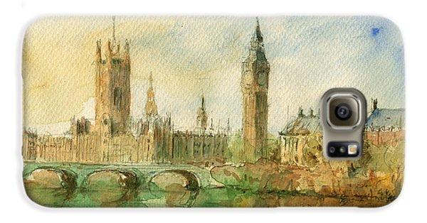 London Parliament Galaxy S6 Case by Juan  Bosco