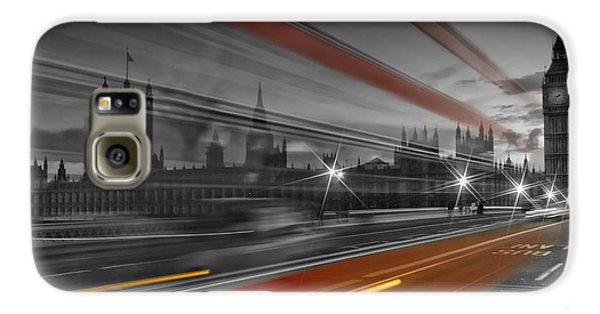 London Red Bus Galaxy S6 Case by Melanie Viola