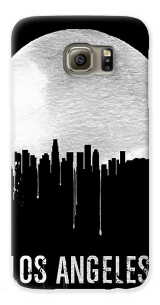 Los Angeles Skyline Black Galaxy S6 Case by Naxart Studio