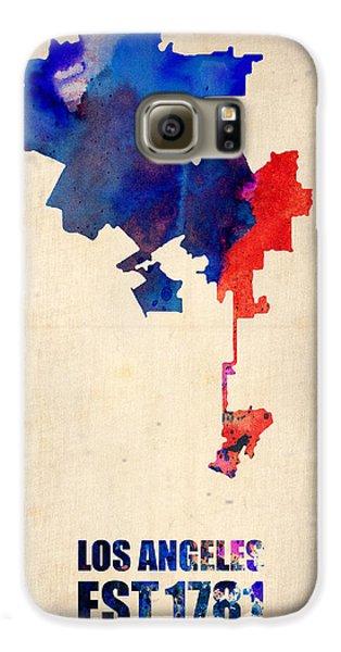 Los Angeles Watercolor Map 1 Galaxy S6 Case by Naxart Studio