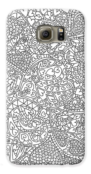 Love And Chrysanthemum Filled Hearts Vertical Galaxy S6 Case by Tamara Kulish
