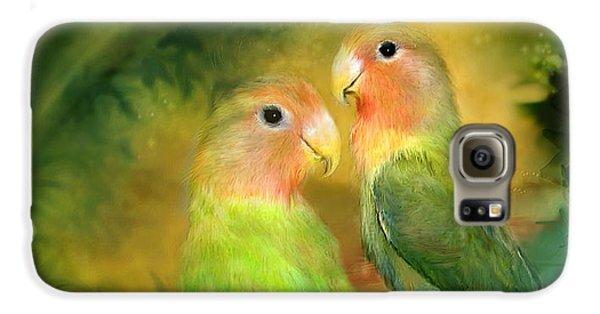 Love In The Golden Mist Galaxy S6 Case by Carol Cavalaris
