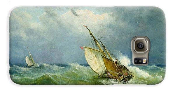 Lowestoft Trawler In Rough Weather Galaxy S6 Case by John Moore