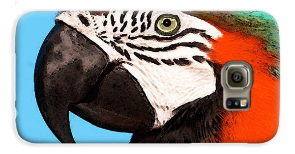 Macaw Bird - Rain Forest Royalty Galaxy S6 Case by Sharon Cummings