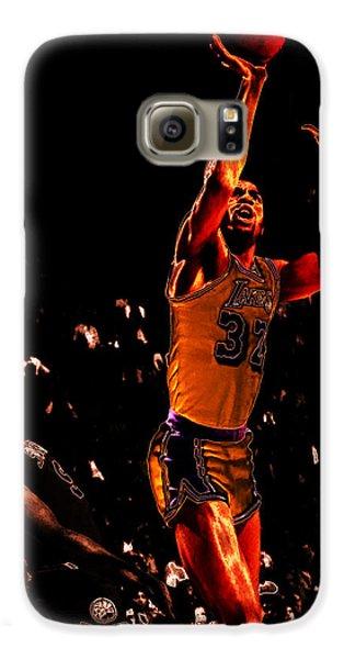 Magic Johnson Lean Back II Galaxy S6 Case by Brian Reaves