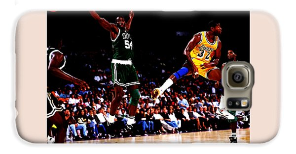 Magic Johnson No Look Pass 7a Galaxy S6 Case by Brian Reaves