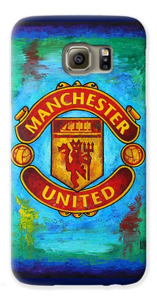 Manchester United Vintage Galaxy S6 Case by Dan Haraga
