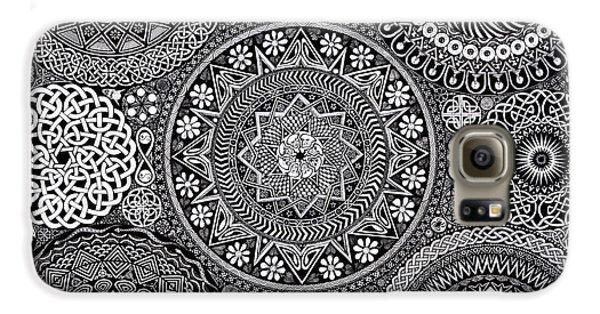 Mandala Bouquet Galaxy S6 Case by Matthew Ridgway