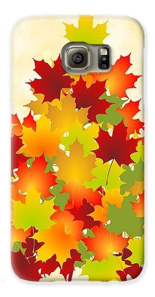 Maple Leaves Galaxy S6 Case by Anastasiya Malakhova