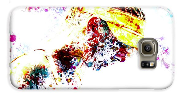 Maria Sharapova Paint Splatter 4p                 Galaxy S6 Case by Brian Reaves