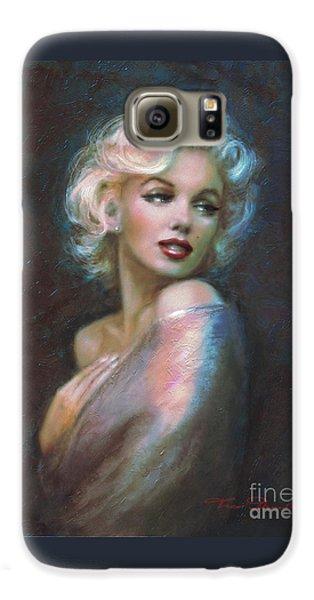 Marilyn Romantic Ww Dark Blue Galaxy S6 Case by Theo Danella