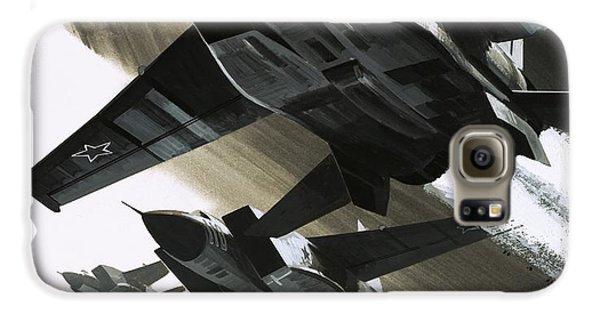 Mcdonnell Douglas F15 Eagle Jet Fighter Galaxy S6 Case by Wilf Hardy