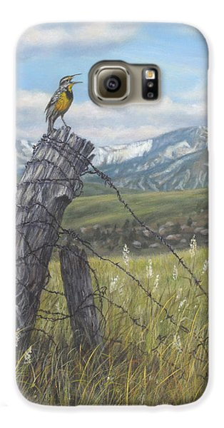 Meadowlark Serenade Galaxy S6 Case by Kim Lockman