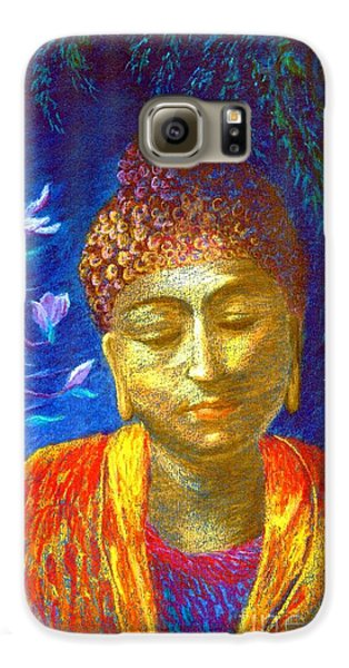 Meeting With Buddha Galaxy S6 Case by Jane Small