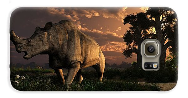 Megacerops At Breakfast Galaxy Case by Daniel Eskridge
