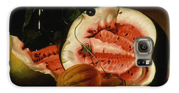 Melons And Morning Glories  Galaxy S6 Case by Raphaelle Peale