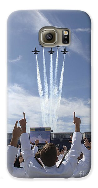 Members Of The U.s. Naval Academy Cheer Galaxy S6 Case by Stocktrek Images