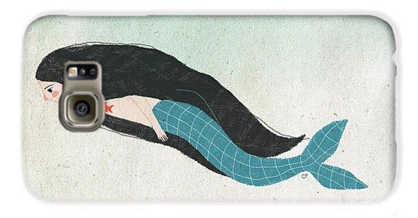 Mermaid Galaxy S6 Case by Carolina Parada