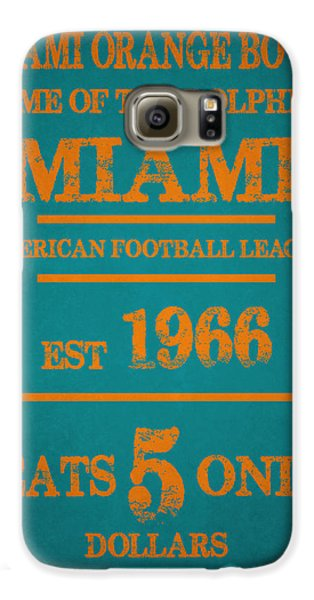 Miami Dolphins Sign Galaxy S6 Case by Joe Hamilton
