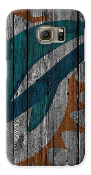 Miami Dolphins Wood Fence Galaxy S6 Case by Joe Hamilton