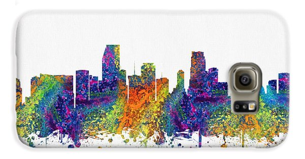 Miami Florida Skyline Color03 Galaxy S6 Case by Aged Pixel