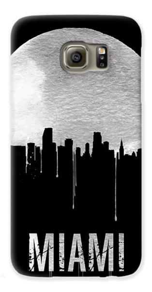 Miami Skyline Black Galaxy S6 Case by Naxart Studio