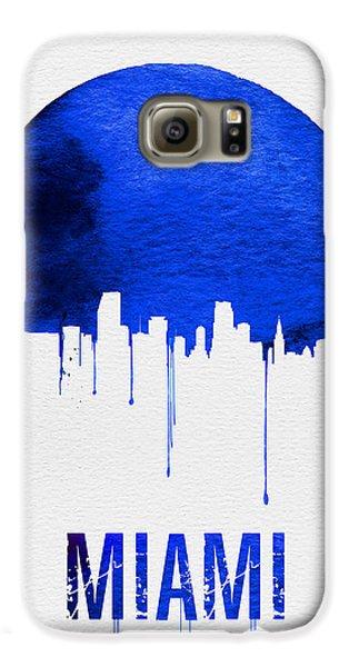 Miami Skyline Blue Galaxy S6 Case by Naxart Studio