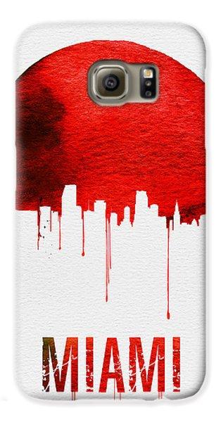 Miami Skyline Red Galaxy S6 Case by Naxart Studio