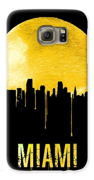 Miami Skyline Yellow Galaxy S6 Case by Naxart Studio