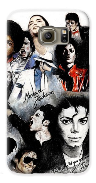 Michael Jackson - King Of Pop Galaxy S6 Case by Lin Petershagen