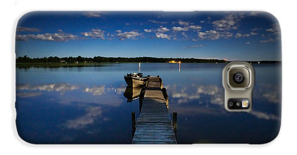 Midnight At Shady Shore On Moose Lake Minnesota Galaxy S6 Case by Alex Blondeau